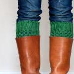 Crochet Boot Cuffs in Sage Green