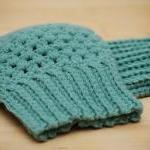 Crochet Boot Cuffs in Pastel Mint G..