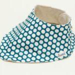 Organic Cotton Dribble Bib - Teal a..