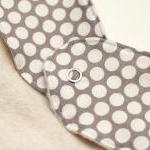 Organic Cotton Dribble Bib - Grey (..