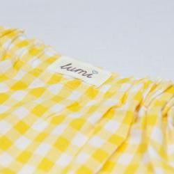 Lumi Girls Yellow Gingham Skirt