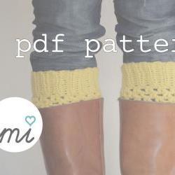 PDF Crochet PATTERN Boot Cuffs